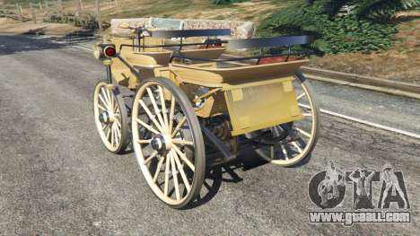 GTA 5 Daimler 1886 [wood] rear left side view