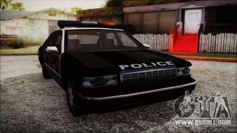 Beta SFPD Cruiser for GTA San Andreas back left view