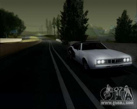 Clover Barracuda for GTA San Andreas back view