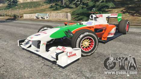 GTA 5 Force India VJM03 right side view