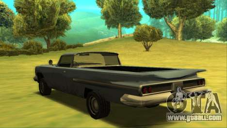Voodoo El Camino v1 for GTA San Andreas back left view