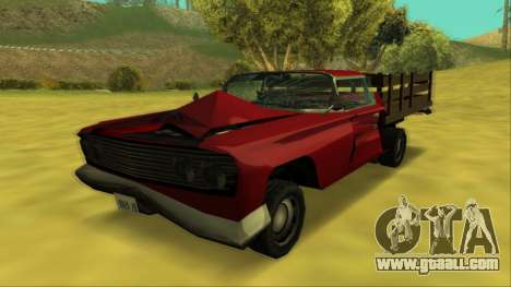 Voodoo El Camino v2 (Truck) for GTA San Andreas upper view
