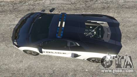 GTA 5 Lamborghini Aventador LP700-4 Police v5.5 back view