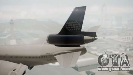 DC-10-30 World Airways (Blue Tail) for GTA San Andreas back left view