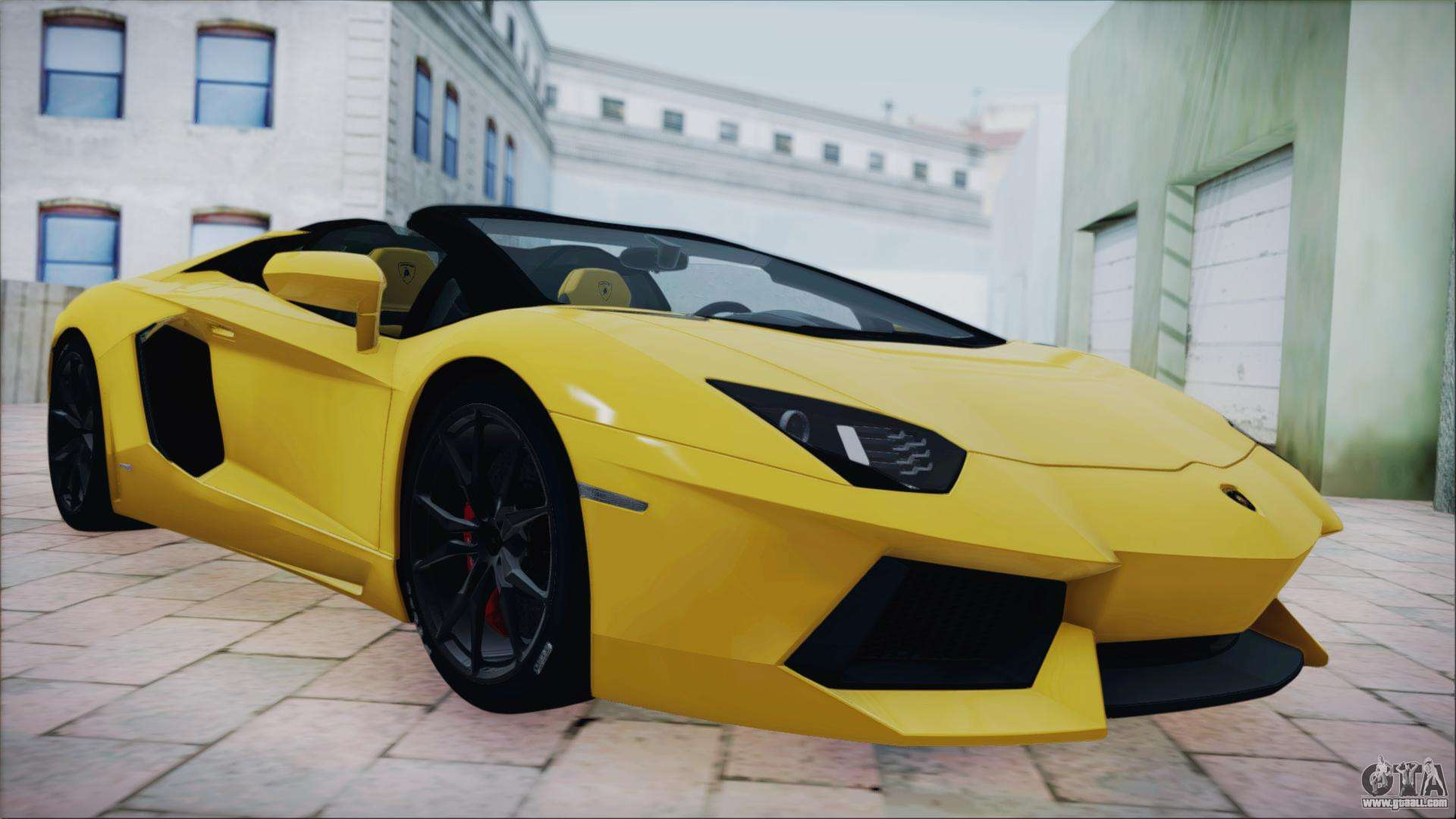 lamborghini aventador lp700 4 roadster 2013 for gta san. Black Bedroom Furniture Sets. Home Design Ideas