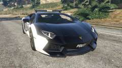 Lamborghini Aventador LP700-4 Police v5.5 for GTA 5