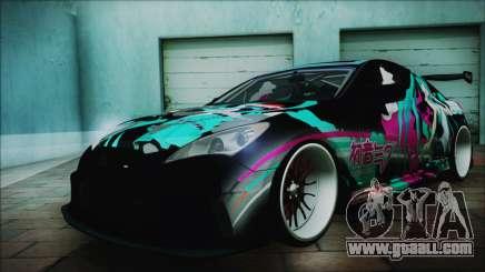 Hyundai Genesis Coupe Hatsune Miku Itasha PJ for GTA San Andreas