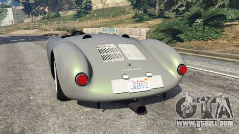 GTA 5 Porsche 550A Spyder 1956 rear left side view