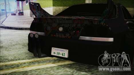 Nissan Skyline R33 Widebody v2.0 for GTA San Andreas inner view