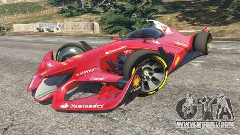 GTA 5 Ferrari F1 Concept right side view