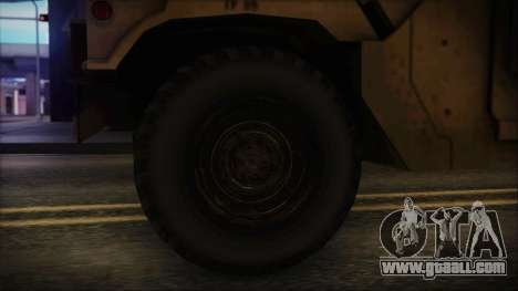 HMMWV Patriot for GTA San Andreas back left view