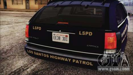 Chevrolet Caprice Station Wagon 1993-1996 LSPD for GTA San Andreas back view