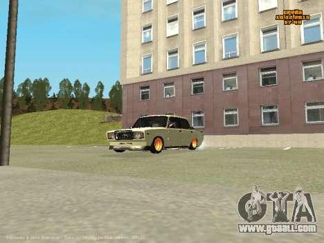 VAZ 2107 Car for GTA San Andreas inner view