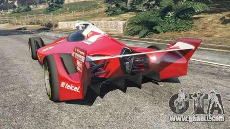 GTA 5 Ferrari F1 Concept rear left side view