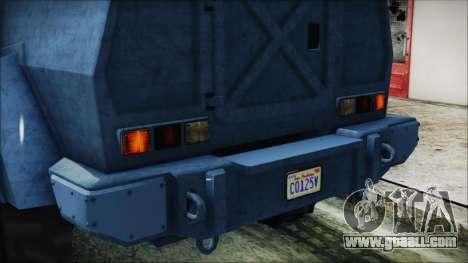 GTA 5 HVY Insurgent Van IVF for GTA San Andreas side view