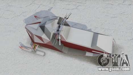 GTA 5 Snowmobile back view