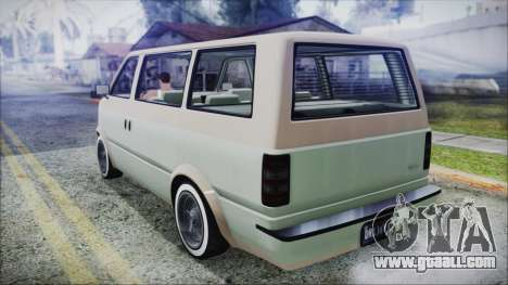 GTA 5 Declasse Moonbeam Custom IVF for GTA San Andreas left view