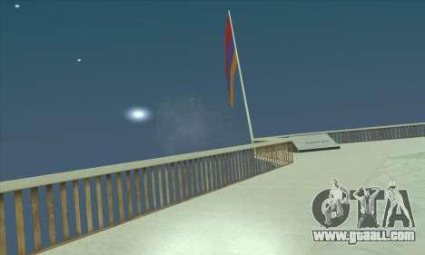 Armenia flag on mount Chiliad for GTA San Andreas