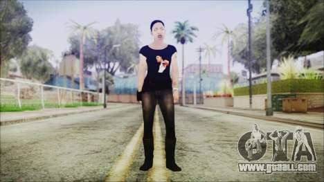 Left 4 Dead Rochelle for GTA San Andreas second screenshot