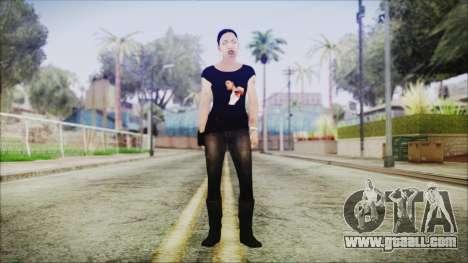 Left 4 Dead Rochelle for GTA San Andreas second screenshot