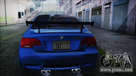 BMW M3 GTS 2011 HQLM for GTA San Andreas left view
