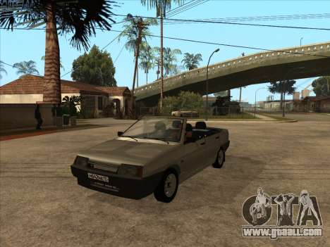 VAZ 21099 Convertible for GTA San Andreas inner view
