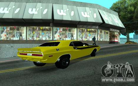 Dodge Challenger Tunable for GTA San Andreas right view