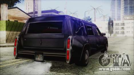 The Romeros Hearse for GTA San Andreas back left view