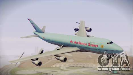 Boeing 747-100 Blue for GTA San Andreas