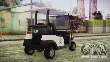 GTA 5 Golf Caddy for GTA San Andreas left view