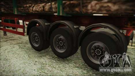 Iveco EuroTech Forest Trailer for GTA San Andreas back left view