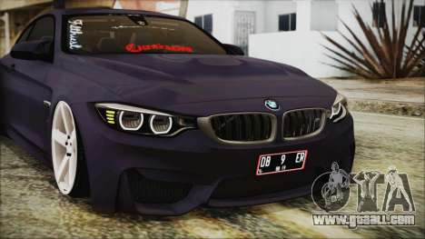 BMW M4 Stance 2014 for GTA San Andreas side view