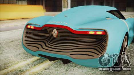 Renault Dezir Concept 2010 v1.0 for GTA San Andreas inner view