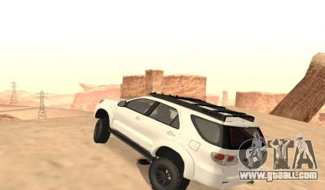 Toyota Fortuner 4WD 2015 Rustica for GTA San Andreas back left view