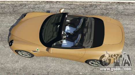 GTA 5 Alfa Romeo 8C Spider 2012 back view
