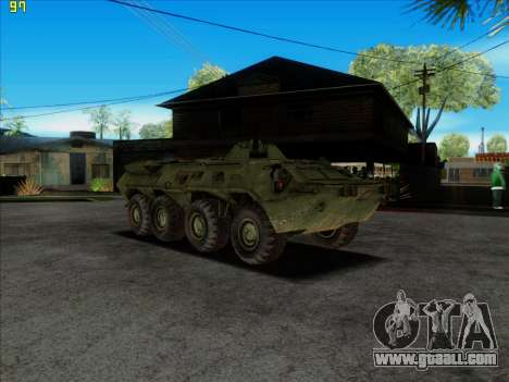 BTR 80 for GTA San Andreas right view