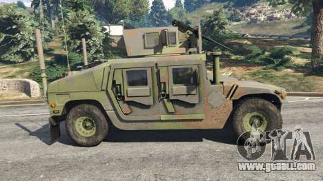 GTA 5 HMMWV M-1116 [woodland] left side view