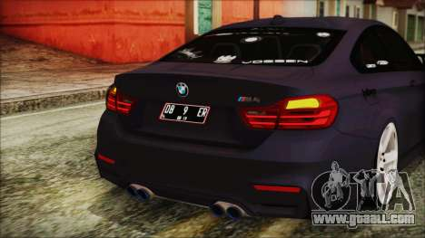 BMW M4 Stance 2014 for GTA San Andreas bottom view