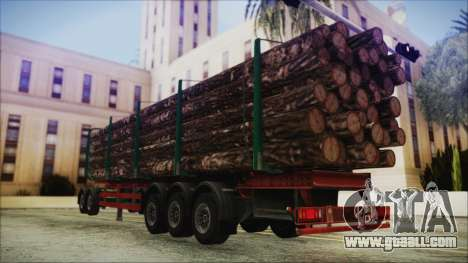 Iveco EuroTech Forest Trailer for GTA San Andreas left view