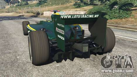GTA 5 Lotus T127 rear left side view
