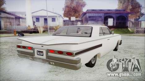 GTA 5 Declasse Clean Voodoo Hydra Version for GTA San Andreas left view