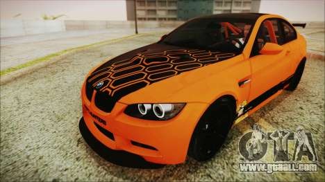 BMW M3 GTS 2011 HQLM for GTA San Andreas inner view