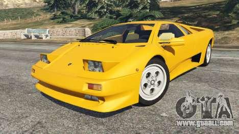 GTA 5 Lamborghini Diablo Viscous Traction 1994 right side view