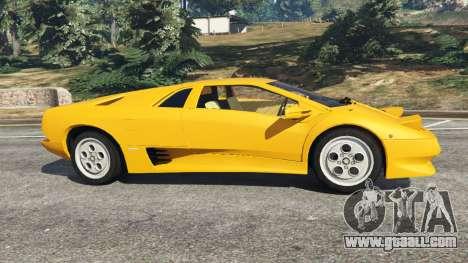 GTA 5 Lamborghini Diablo Viscous Traction 1994 left side view