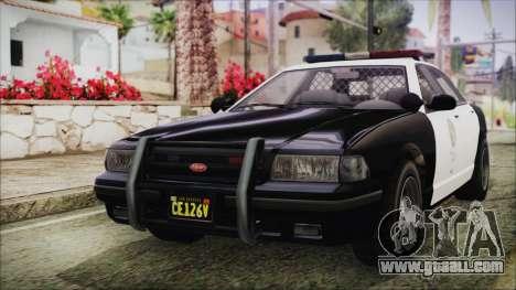 GTA 5 Vapid Stranier II Police Cruiser IVF for GTA San Andreas