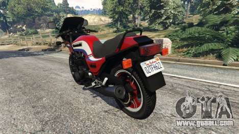 GTA 5 Kawasaki GPZ1100 rear left side view