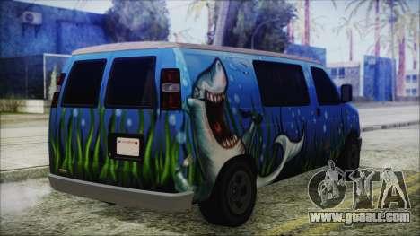GTA 5 Bravado Paradise Shark Artwork for GTA San Andreas left view