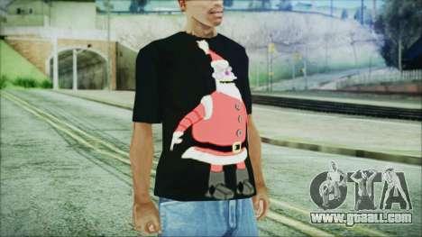 Santa T-Shirt for GTA San Andreas second screenshot