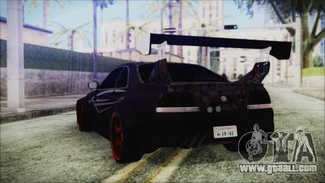 Nissan Skyline R33 Widebody v2.0 for GTA San Andreas left view