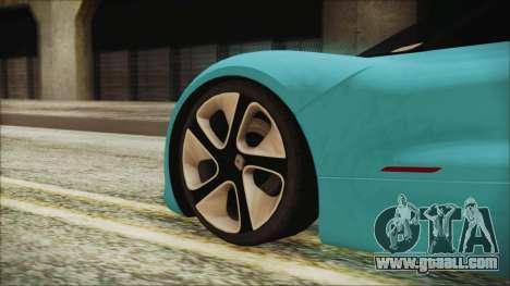 Renault Dezir Concept 2010 v1.0 for GTA San Andreas back left view